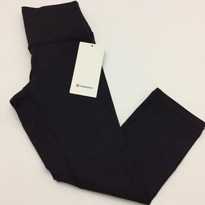 "Lululemon Wunder Under Crop High Rise 21"" NWT"